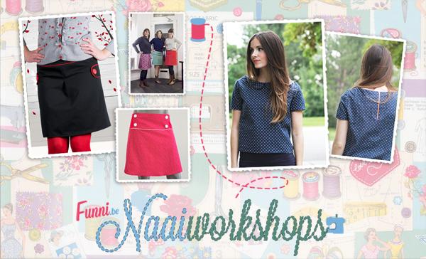 Naaiworkshop in Gent: naailes A-lijn rokje, retro kleedje of bloesje