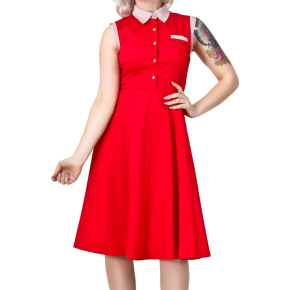 Polly Shirt Dress Red-cutout
