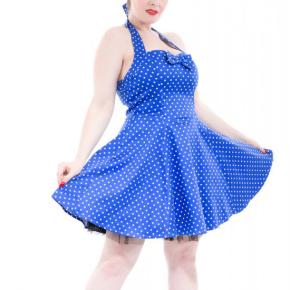 kort-blauw-jurkje-met-polkadots-cutout