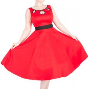 rode-jurk-met-uitsnijdingen-hals-cutout