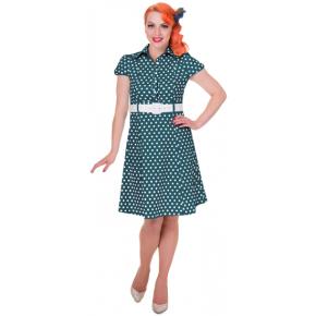 bolletjes-jurk-groen-voor