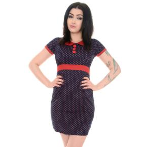 blauw-rood-jurkje-polkadot-kraagje