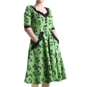 green-pin-up-dress-with-cats-1