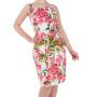HR3132-aansluitende-pencil-jurk-roze-bloemenprint-cutout