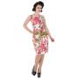 HR3132-aansluitende-pencil-jurk-roze-bloemenprint-voor