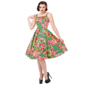 HR9845-tropisch-swing-jurkje-groen-voor