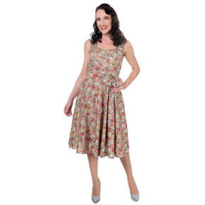 DDV503ROSEPBLUE-bloem-jurk-ronde-uitsnijding-strik