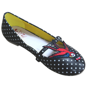 BND125BLKSWALLOW-retro-schoen-polkadots-zwaluw