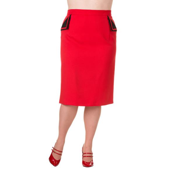 BNSBN241RED-pencil-rok-rood
