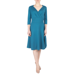 Fever London jurk Andrea wrap dress vintage blauw