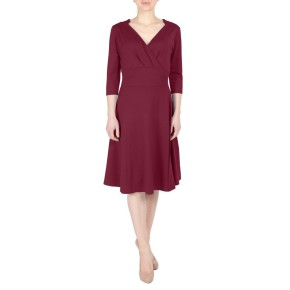 Fever London Andrea wrap dress retro bruin