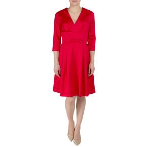 Fever London rood elegant kleedje Mabel met satijn afwerking en strikje