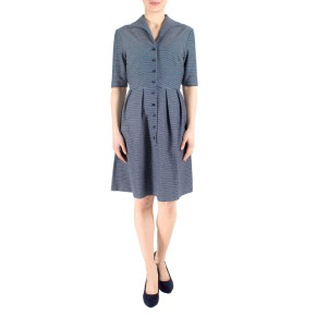 Fever London Nora shirt dress, jurkje in navy denim met kraag