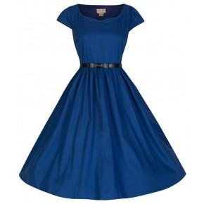 hoogblauwe-swing-jurk