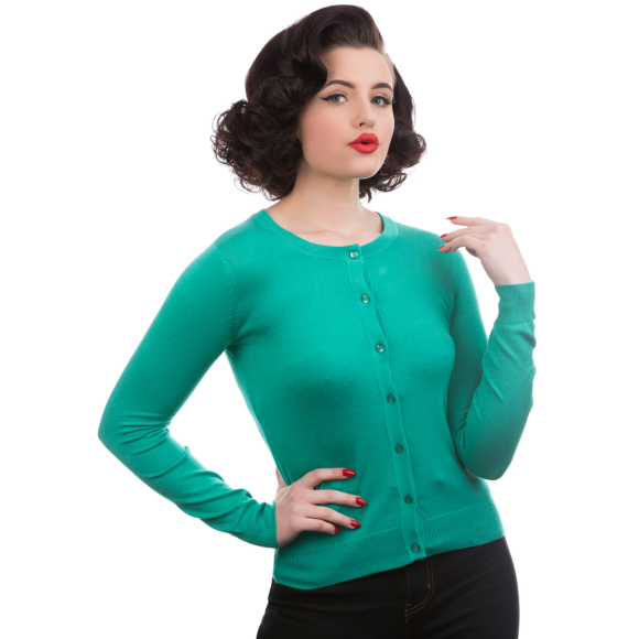 HR0202BG-Aqua-Green-Cardigan