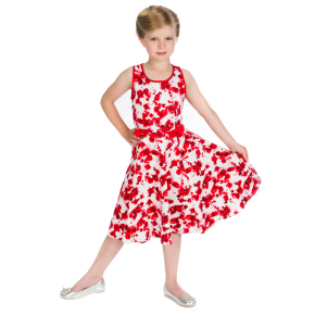 HR3342-50s-Red-Floral-Kids-Dress