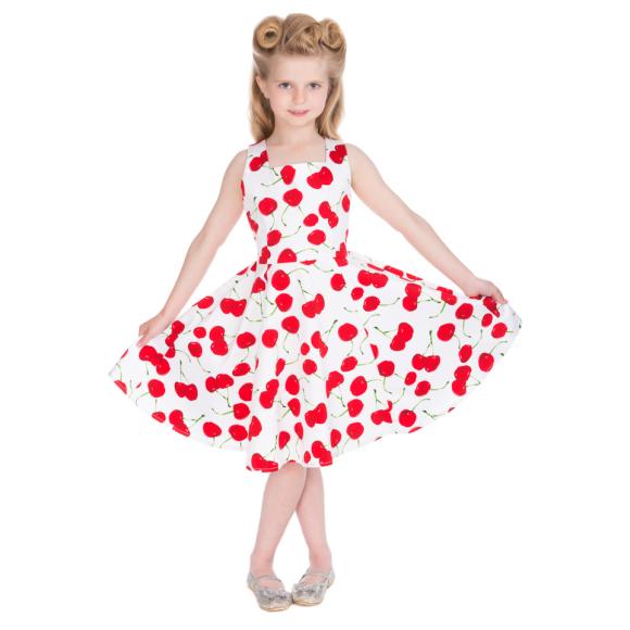 HR4085W-White-Bombshell-Cherry-Swing-Dress-Kids