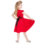 HR4086-Red-Black-Small-Polka-Dot-Dress-kids-back