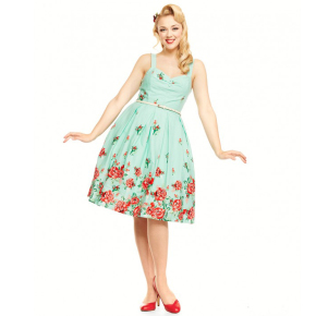 LB-Bernice-Mint-Rose-Swing-Dress