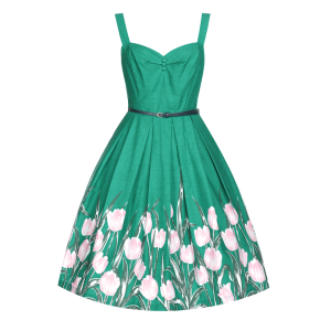 LB-Bernice-Turquoise-Tulip-Swing-Dress