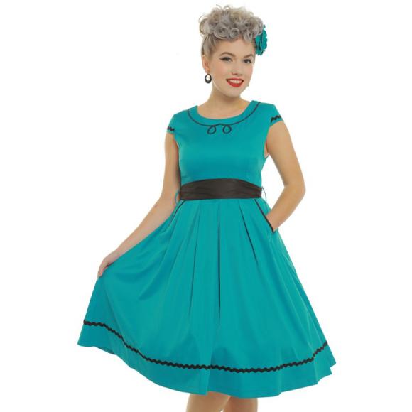 LB-Bethany-Teal-Swing-Dress-2