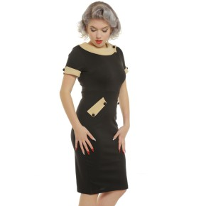 LB-Tiffany-1950s-Collared-Pencil-Wiggle-Dress-2
