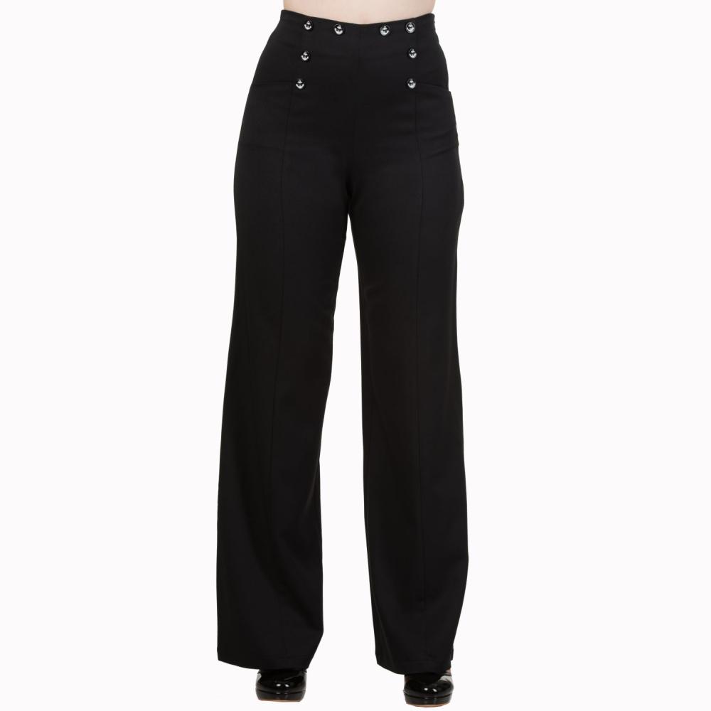 zwarte broek met hoge taille