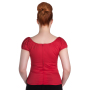 melissa top red b