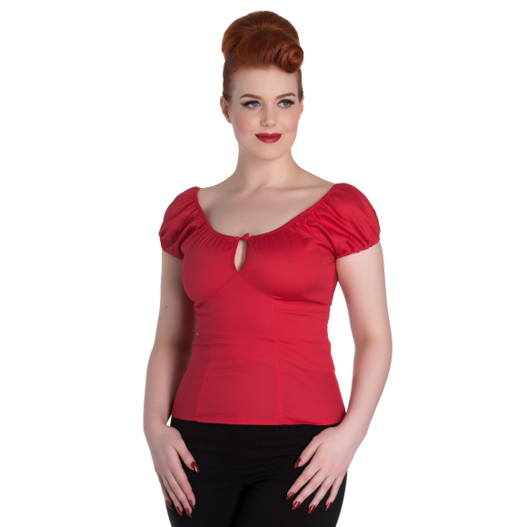melissa top red f