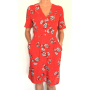 Dress 553 - Cute Tea Dress - Red Spotty Daisy - MODEL