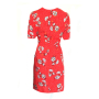 Dress 553 - Cute Tea Dress - Red Spotty Daisy - REAR