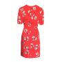 Dress 553 - Cute Tea Dress - Red Spotty Daisy - REAR