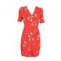 dress 553 - cute tea dress - red spotty daisy - front