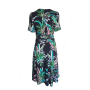 Dress 428 - Wrap Up Dress - Navy Valley of the Valley - REAR