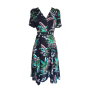 dress 428 - wrap up dress - navy lily of the valley - front