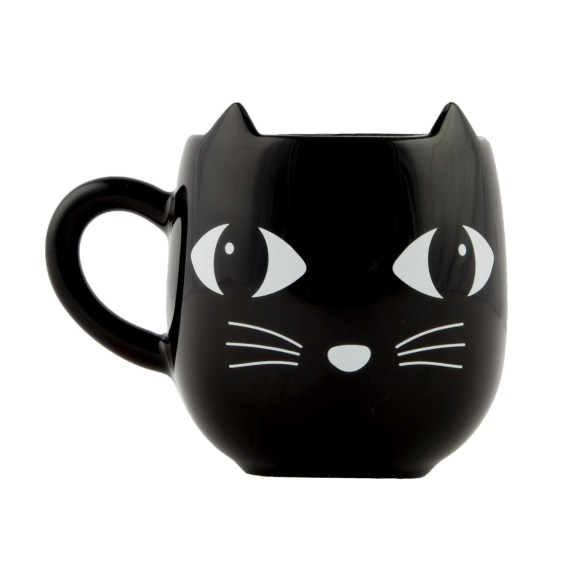 Black Cat With Ears Mug