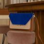1801613 - The Sticky Sis Club - satchel - cinnamon brown + clay beige + azure blue