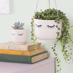 Eyes Shut Hanging Planter 3