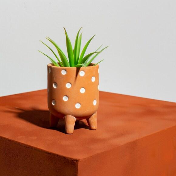 polka leggy planter